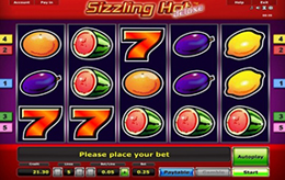 online casino for fun sizzling games