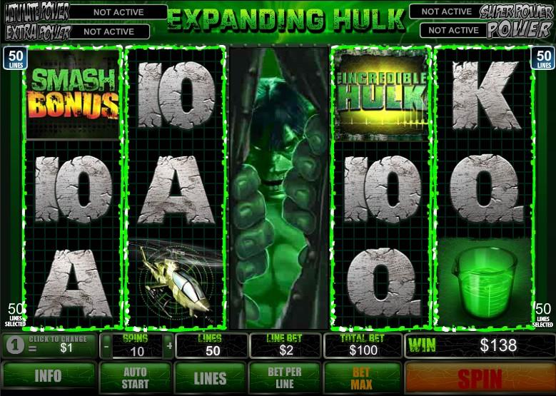 Slot Games Hulk