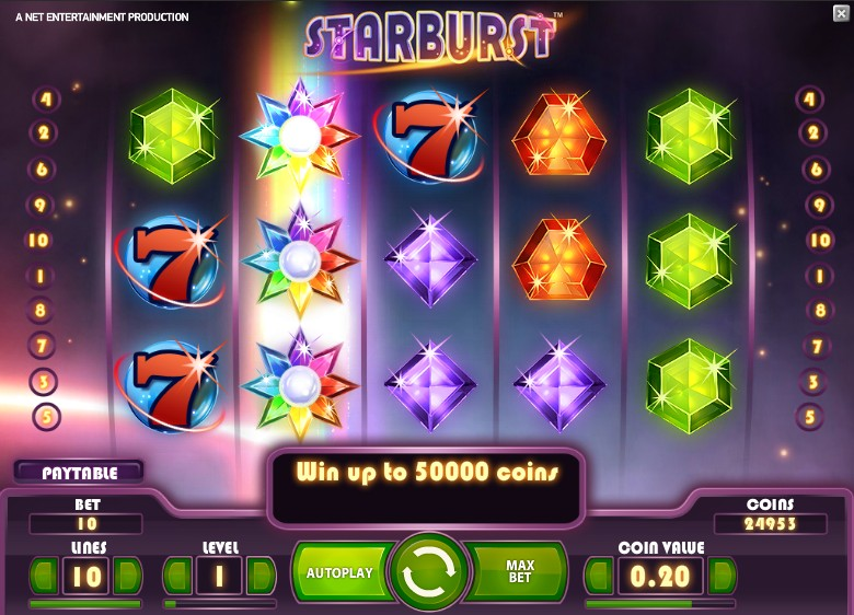 free casino games online slots with bonus starbrust