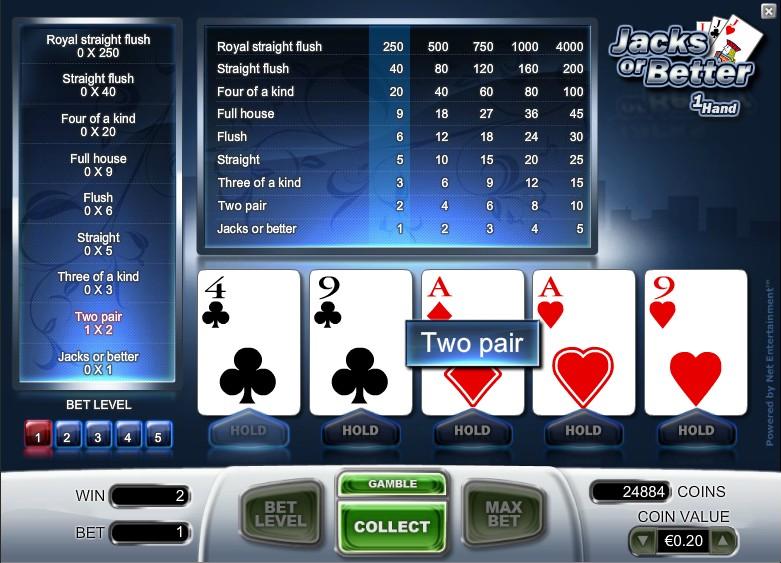 Online Casino Games Jacks Or Better